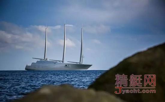 动力艇A全球最大帆船A历史性同游 6亿英镑海上漂