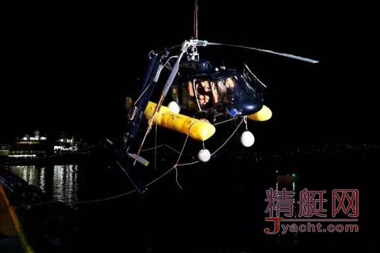 直升机降落游艇Trinity Yachts Bacarella失败 意外坠海