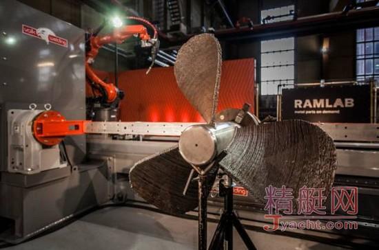 世界上首个船级社认证的3D打印船用螺旋桨WAAMpeller