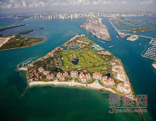 美国迈阿密的费舍尔岛