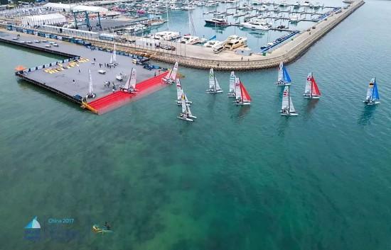离完美只差一个永久下水坡道@半山半岛帆船港2017世界青年帆船锦标赛