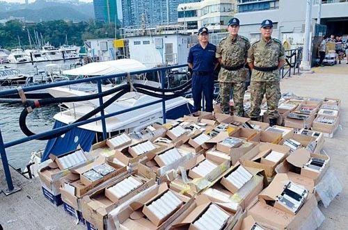 香港破获首起游艇走私案 手机平板电脑欲运往内地