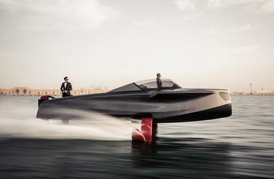 """一对""""红脚"""" 让小艇起飞1.5米 时速高达40节"""