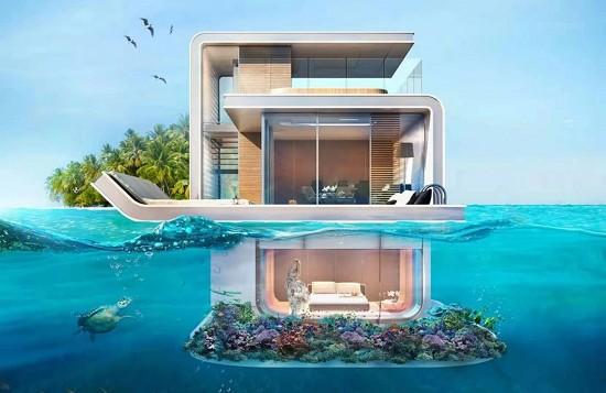 已到国内!带水下套房的海上别墅